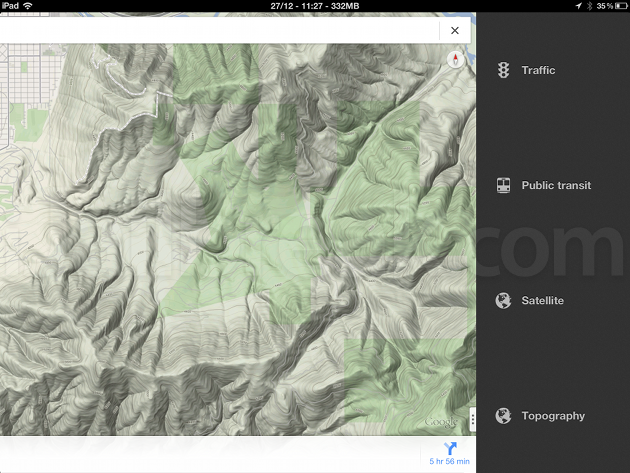Topography for Google Maps