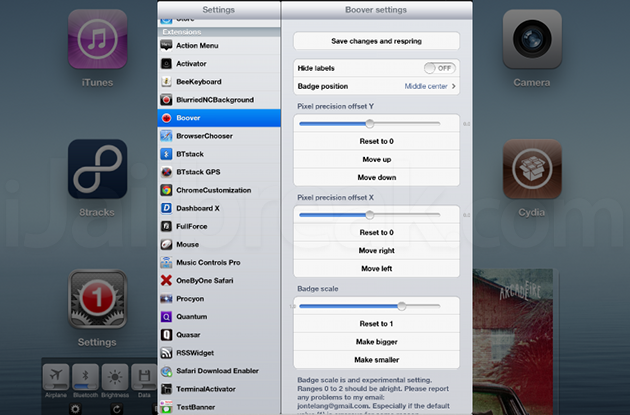 Boover Cydia Tweak
