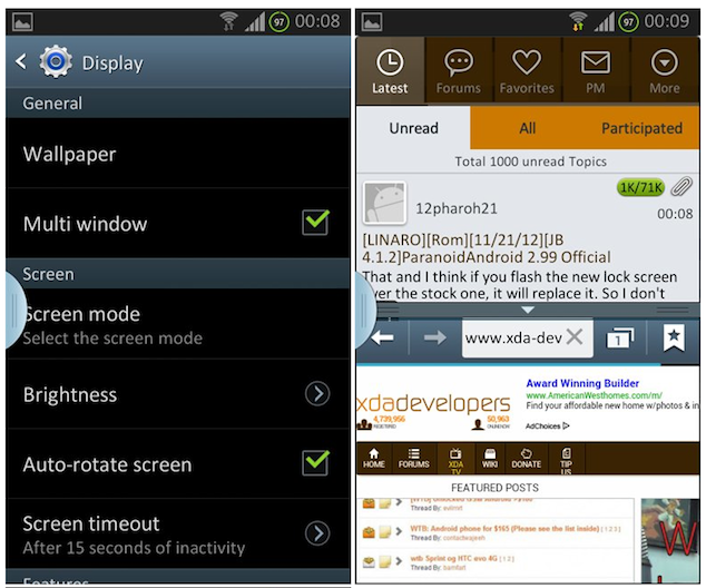 Multi-Window Galaxy S II