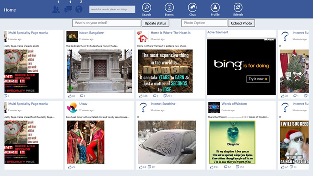 Unofficial Facebook Windows 8 App