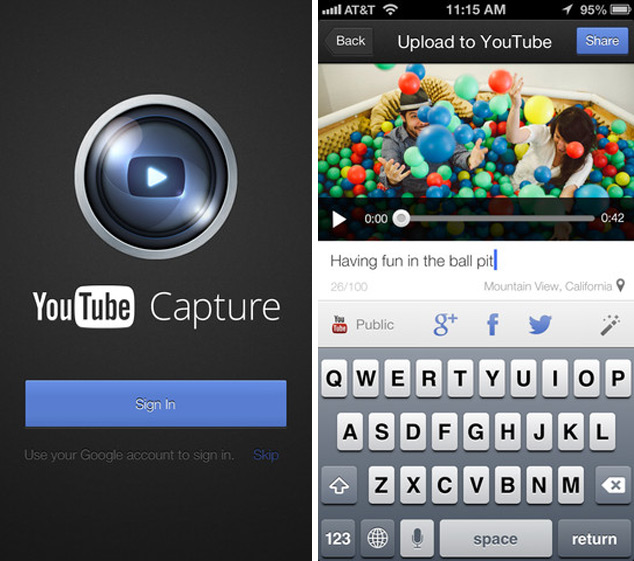YouTube Capture Mobile App