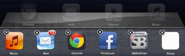 Black X App Switcher Cydia Tweak