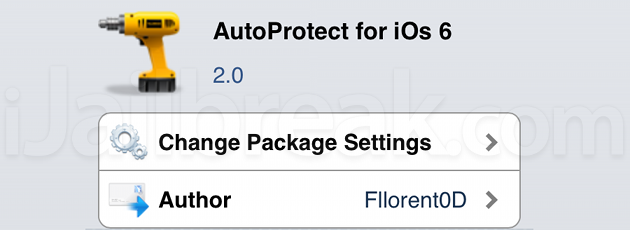 AutoProtect For iOS 6 Cydia Tweak