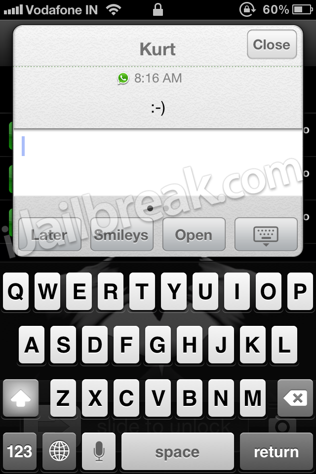 Quick Reply For WhatsApp 2.0 Cydia Tweak