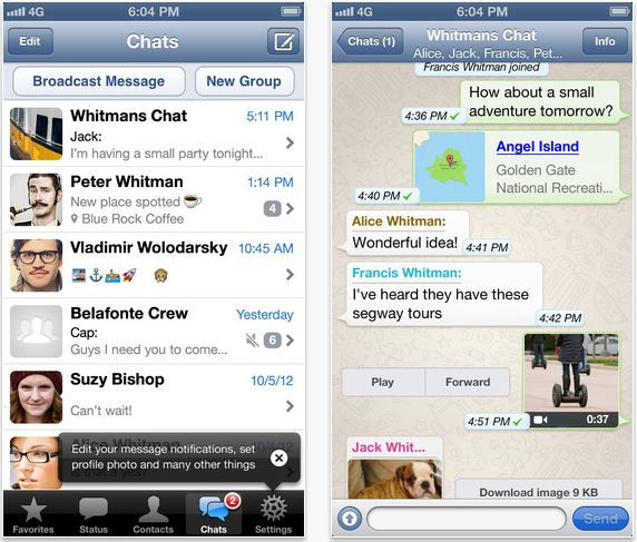 WhatsApp Messenger iOS App Free