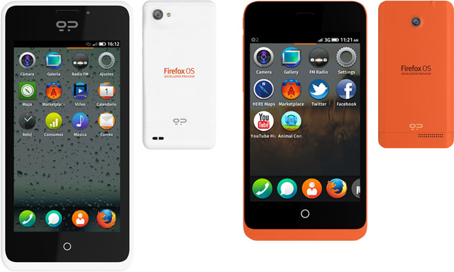 FireFox OS Keon And Peak Developer Handsets
