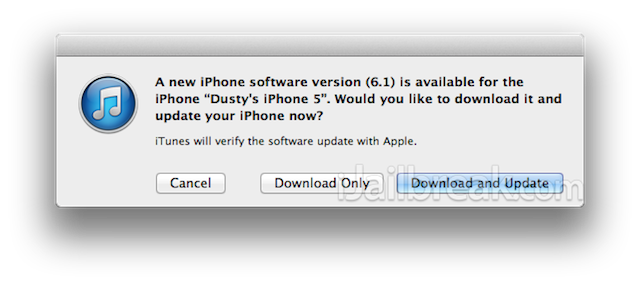 ios 6.1 firmware apple
