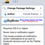 BTNotificationEnabler Sends All Notification Center Notifications To Bluetooth Devices Like The Pebble Watch