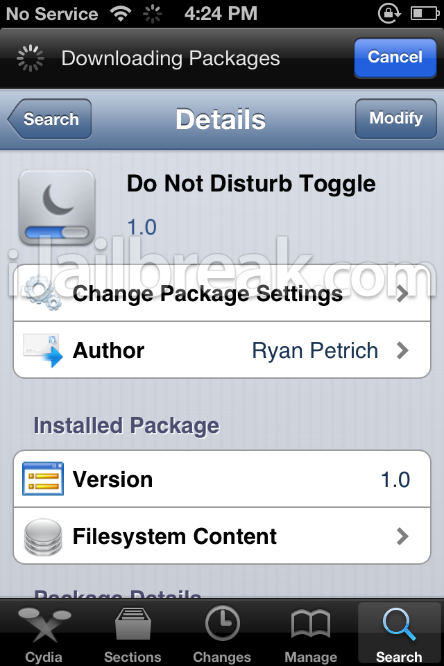 Do Not Disturb Toggle Cydia tweak-ijailbreak
