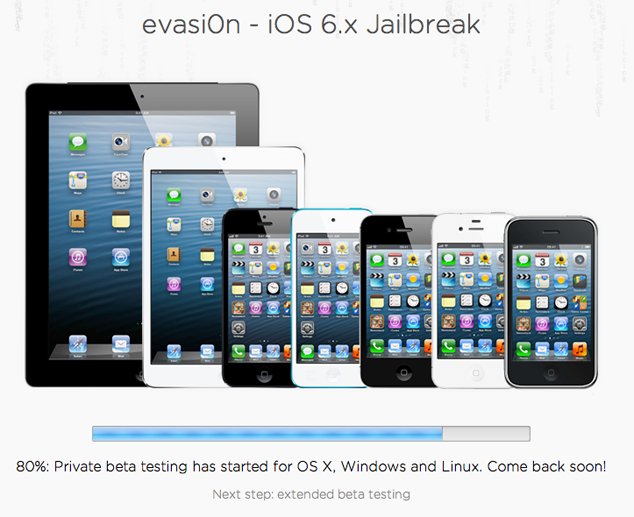 Evasi0n Untethered iOS 6.x Jailbreak At 80 Percent Complete