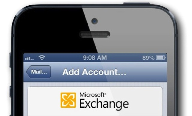 Microsoft Exchange iPhone 5