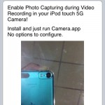 Enable Still Capture Mode On The 5th Generation iPod Touch's Camera With Still Capture Enabler Cydia Tweak