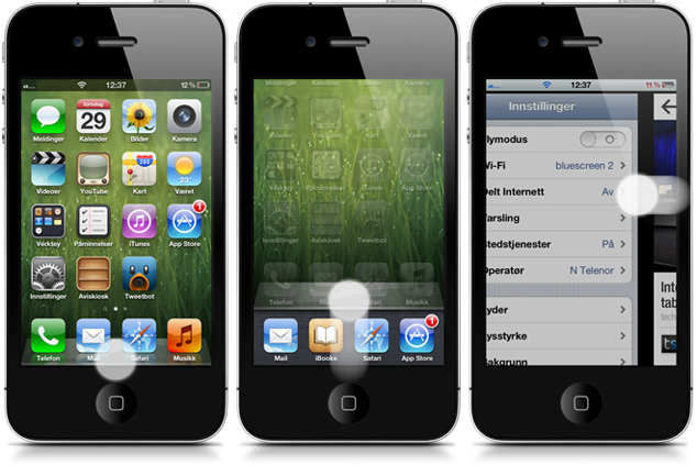 ZephyrExt Cydia Tweak Forces Zephyr To Only Recognize Gestures In The Lowest 3rd Of The Screen