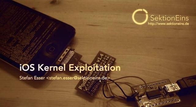 i0n1c Stefan Esser iOS Kernal Exploration