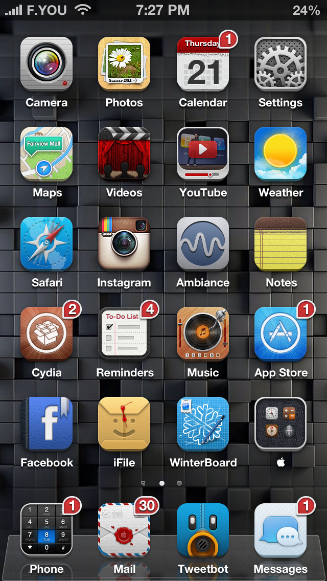 Ayecon WinterBoard Theme