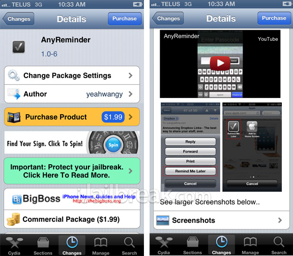 AnyReminder Cydia Tweak