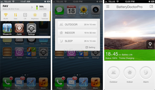 Battery Doctor Pro Cydia Tweak