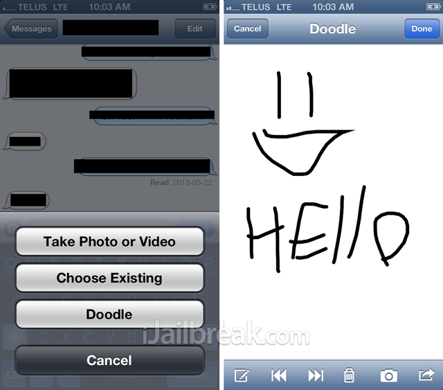 Doodle Message Cydia Tweak iJailbreak
