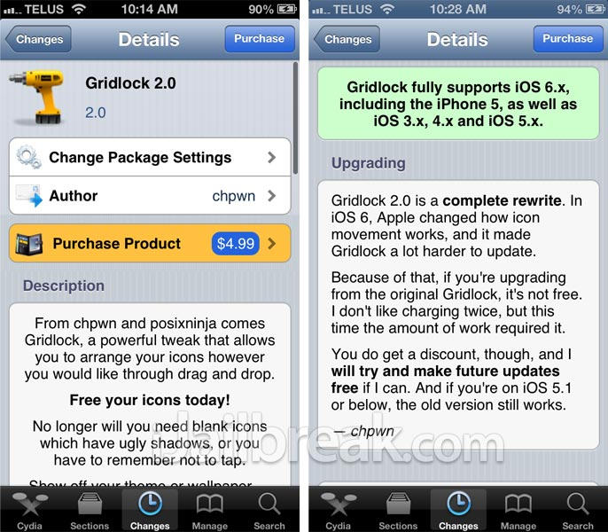 Gridlock 2.0 Cydia Tweak