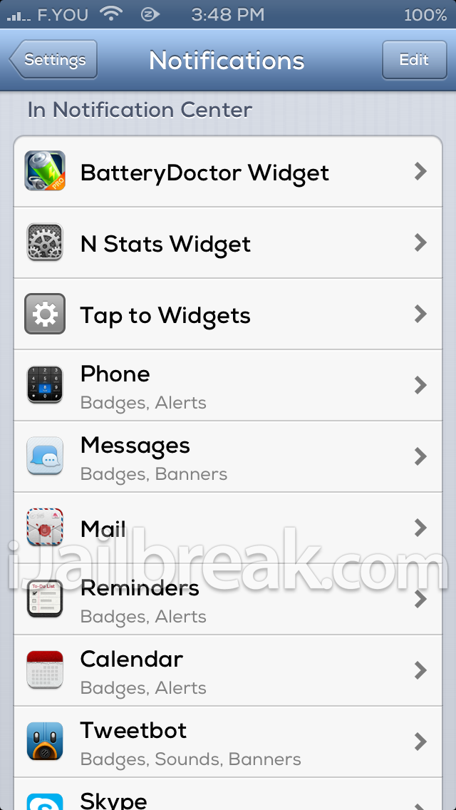 N Stats For NotificationCenter Cydia Tweak ijailbreak