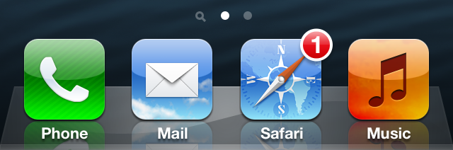 Safari Icon Notification