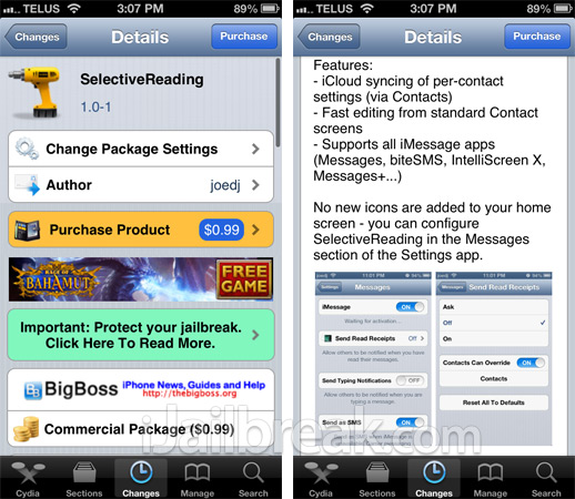 SelectiveReading Cydia Tweak