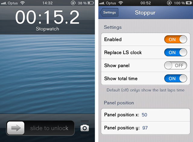 Stoppur-Cydia-Tweak