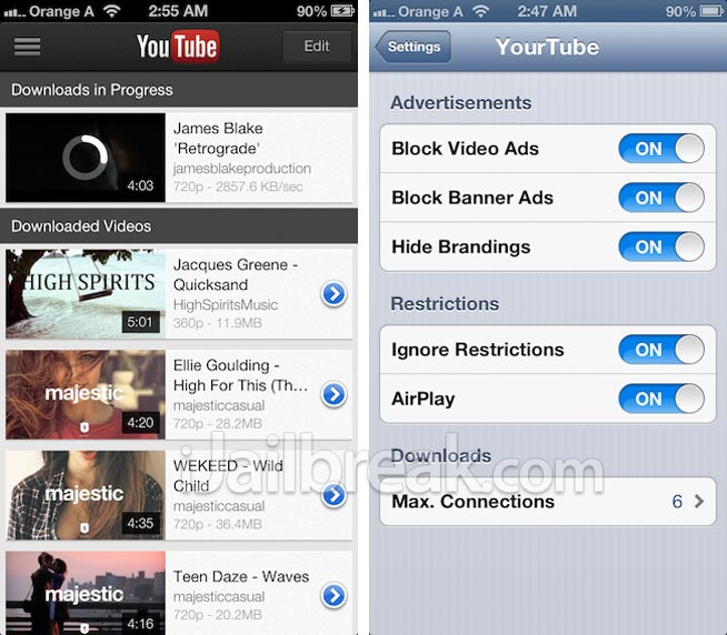 YourTube For iOS6 Cydia Tweak