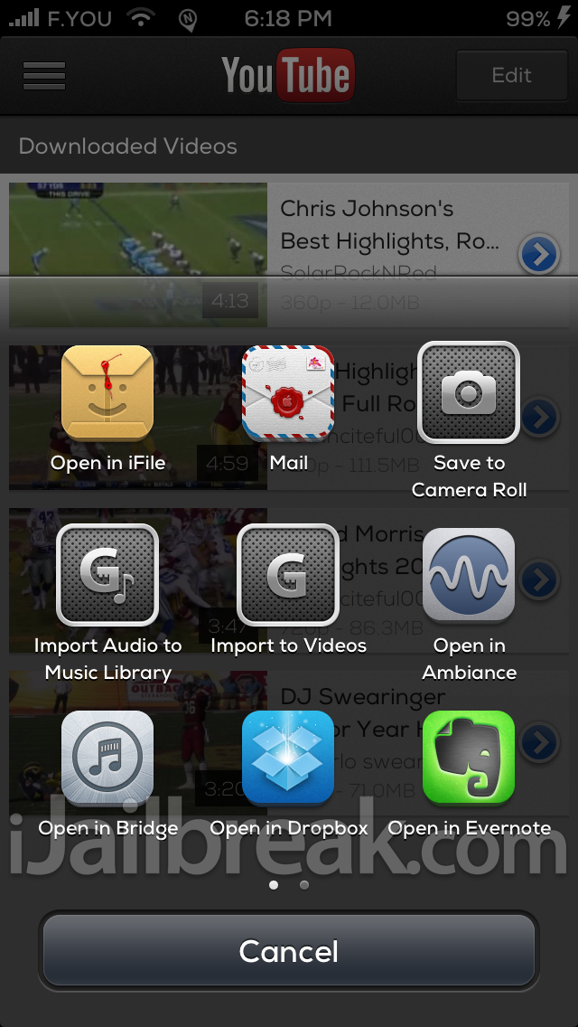 YourTube iOS 6 Cydia Tweak iJailbreak