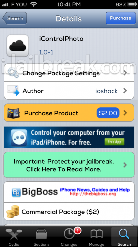 iControlPhoto Cydia Tweak iJailbreak