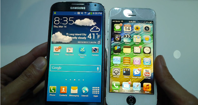iPhone 5 Vs Galaxy S IV