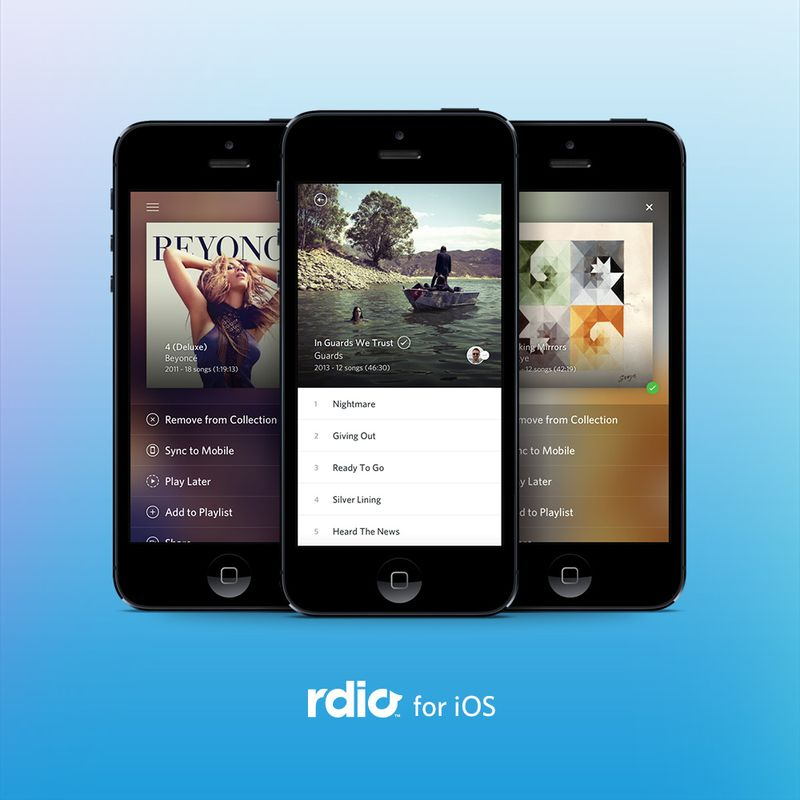 Rdio 2.1.3 iOS Update