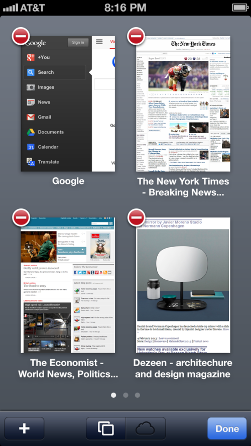 Safari Pages