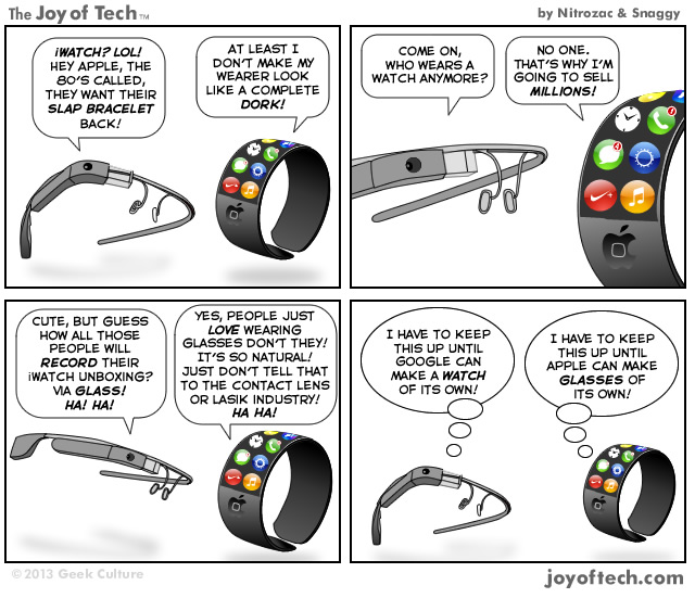 Apple iWatch Versus Google Glass