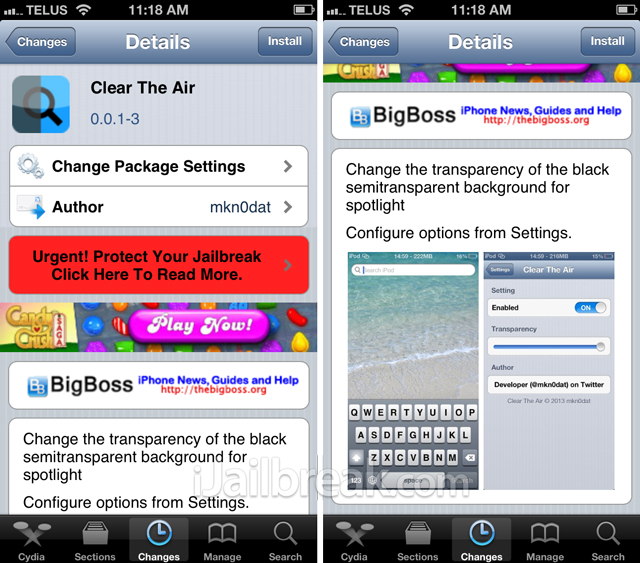 Clear The Air Cydia Tweak