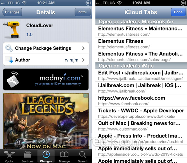 CloudLover Cydia Tweak