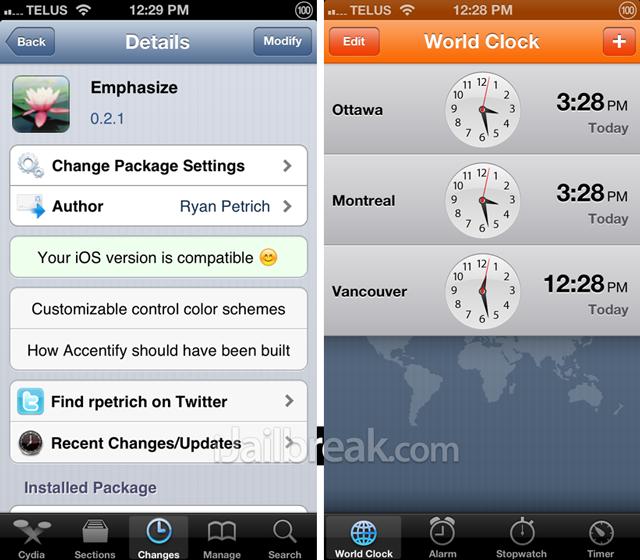 Emphasize Cydia Tweak iOS