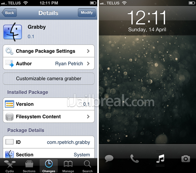 Grabby Cydia Tweak