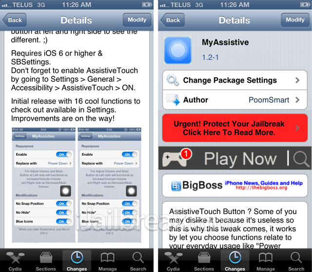 MyAssistive Cydia Tweak