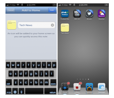 NotesTweak Cydia Tweak Options iJailbreak
