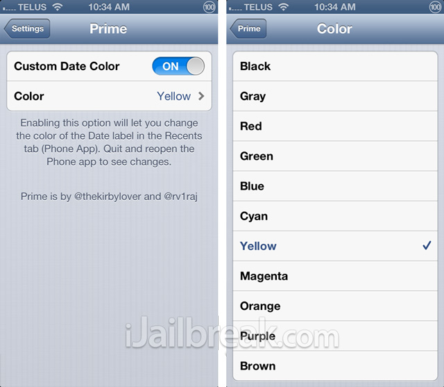 Prime-Cydia-Tweak Settings