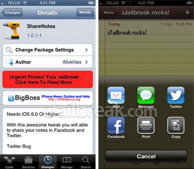 ShareNotes-Cydia-Tweak