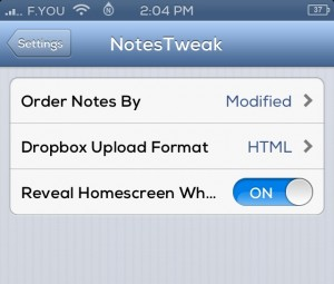 NotesTweak Cydia Tweak