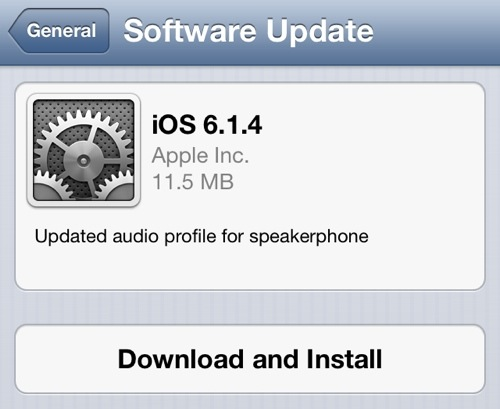 Apple Seeds iOS 6.1.4 To The iPhone 5 With An Updated Audio Profile For Speakerphone [Download Now]