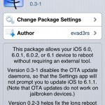 Evasi0n 1.2 Released With Bug Fixes And OTA Update Removal, Download Now Or Update Through Cydia