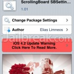 Cydia Tweak – ScrollingBoard SBSettings Toggle