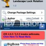Landscape Lock Rotation: Lock Your iPhone, iPod Touch, iPad In Landscape Or Portrait Mode [Cydia Tweak]