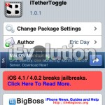 Cydia Tweak – iTether SBSettings Toggle