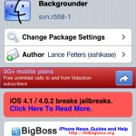 Backgrounder Updated To svn.r558-1 – Multitasking For iPhone/iPod Touch and iPad