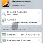 Cydia App: Backgrounder Updated To Version SVN.R400-B3